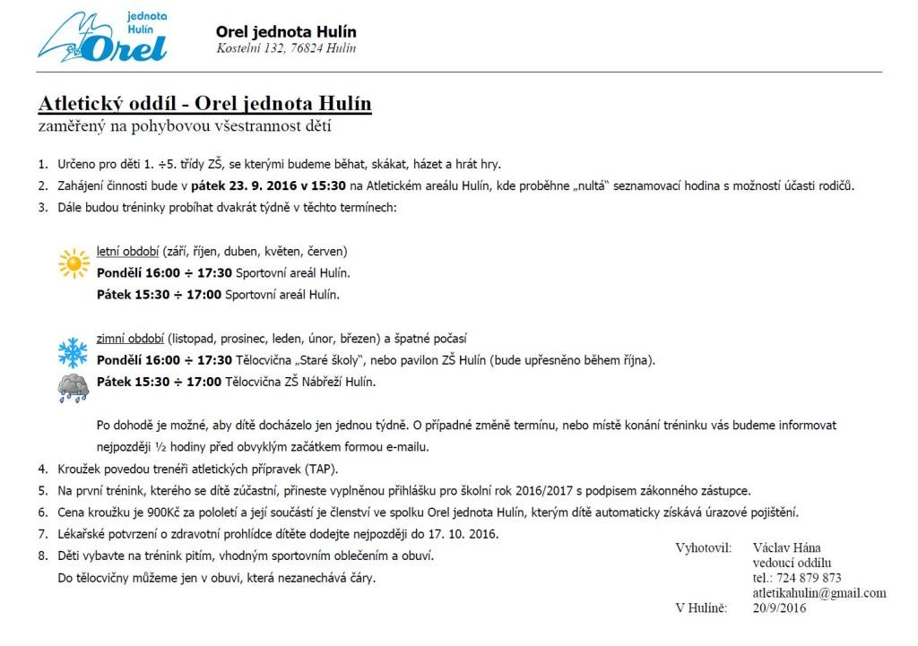 atleticky-oddil-orel-jednota-hulin-informace-a5